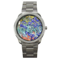 Vincent Van Gogh Irises Sport Metal Watch