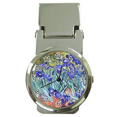 Vincent Van Gogh Irises Money Clip with Watch