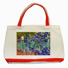 Vincent Van Gogh Irises Classic Tote Bag (red)