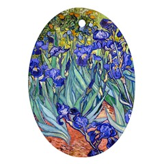 Vincent Van Gogh Irises Oval Ornament (Two Sides)
