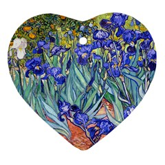 Vincent Van Gogh Irises Heart Ornament (Two Sides)