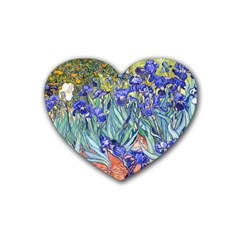 Vincent Van Gogh Irises Drink Coasters 4 Pack (heart)