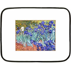 Vincent Van Gogh Irises Mini Fleece Blanket (Two Sided)