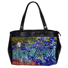 Vincent Van Gogh Irises Oversize Office Handbag (one Side)