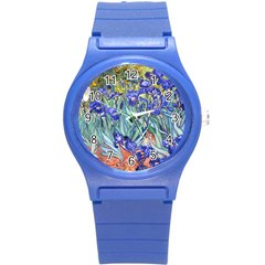 Vincent Van Gogh Irises Plastic Sport Watch (small)
