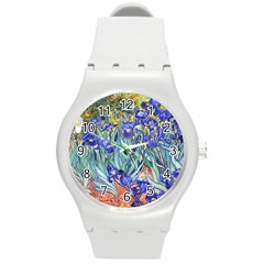 Vincent Van Gogh Irises Plastic Sport Watch (Medium)
