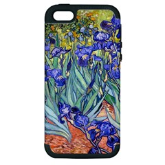 Vincent Van Gogh Irises Apple Iphone 5 Hardshell Case (pc+silicone)