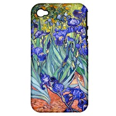 Vincent Van Gogh Irises Apple Iphone 4/4s Hardshell Case (pc+silicone)