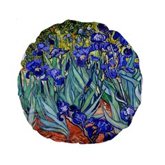 Vincent Van Gogh Irises 15  Premium Round Cushion