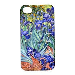 Vincent Van Gogh Irises Apple Iphone 4/4s Hardshell Case With Stand