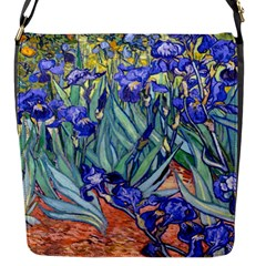 Vincent Van Gogh Irises Flap Closure Messenger Bag (small)