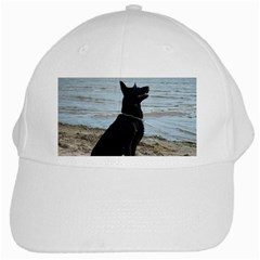 Black German Shepherd White Baseball Cap