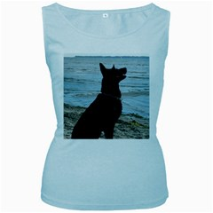 Black German Shepherd Women s Tank Top (Baby Blue)