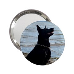 Black German Shepherd Handbag Mirror (2 25 )