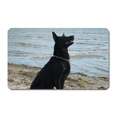 Black German Shepherd Magnet (Rectangular)