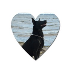 Black German Shepherd Magnet (Heart)