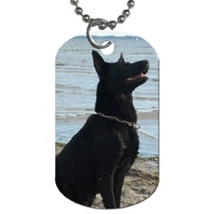 Black German Shepherd Dog Tag (Two-sided)