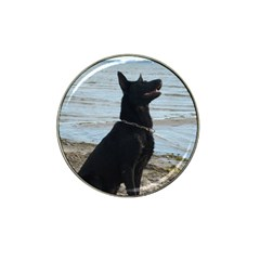Black German Shepherd Golf Ball Marker 4 Pack (for Hat Clip)