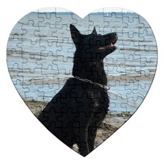 Black German Shepherd Jigsaw Puzzle (Heart)