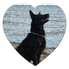 Black German Shepherd Jigsaw Puzzle (heart)