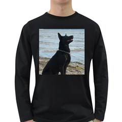 Black German Shepherd Men s Long Sleeve T-shirt (Dark Colored)