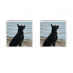 Black German Shepherd Cufflinks (square)