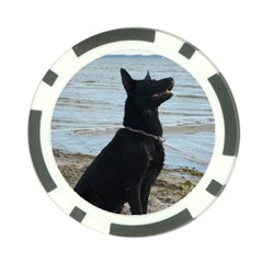 Black German Shepherd Poker Chip