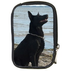 Black German Shepherd Compact Camera Leather Case