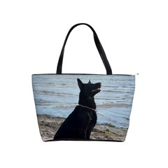 Black German Shepherd Large Shoulder Bag