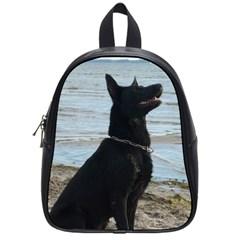 Black German Shepherd School Bag (small)