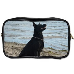 Black German Shepherd Travel Toiletry Bag (One Side)