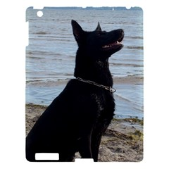 Black German Shepherd Apple iPad 3/4 Hardshell Case