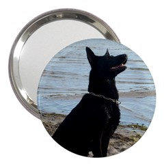 Black German Shepherd 3  Handbag Mirror