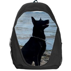 Black German Shepherd Backpack Bag