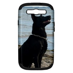 Black German Shepherd Samsung Galaxy S Iii Hardshell Case (pc+silicone)