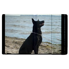 Black German Shepherd Apple iPad 3/4 Flip Case