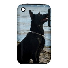 Black German Shepherd Apple iPhone 3G/3GS Hardshell Case (PC+Silicone)