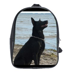 Black German Shepherd School Bag (XL)