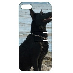 Black German Shepherd Apple iPhone 5 Hardshell Case with Stand