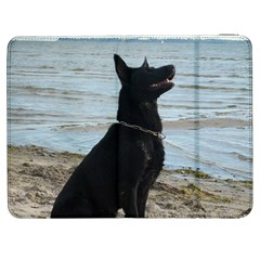Black German Shepherd Samsung Galaxy Tab 7  P1000 Flip Case