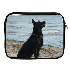 Black German Shepherd Apple iPad Zippered Sleeve