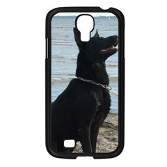 Black German Shepherd Samsung Galaxy S4 I9500/ I9505 Case (Black)
