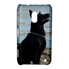 Black German Shepherd Nokia Lumia 620 Hardshell Case