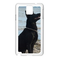 Black German Shepherd Samsung Galaxy Note 3 N9005 Case (White)