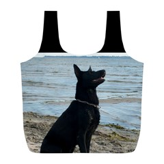 Black German Shepherd Reusable Bag (l)