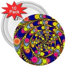 Wild Bubbles 1966 3  Button (10 pack)
