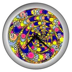Wild Bubbles 1966 Wall Clock (Silver)