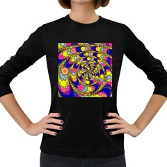Wild Bubbles 1966 Women s Long Sleeve T-shirt (Dark Colored)