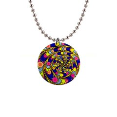 Wild Bubbles 1966 Button Necklace