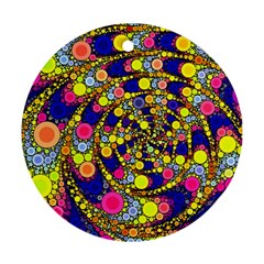 Wild Bubbles 1966 Round Ornament (Two Sides)